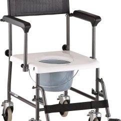 Nova Transport Chair Modern Leather Desk Drop Arm Commode 8805