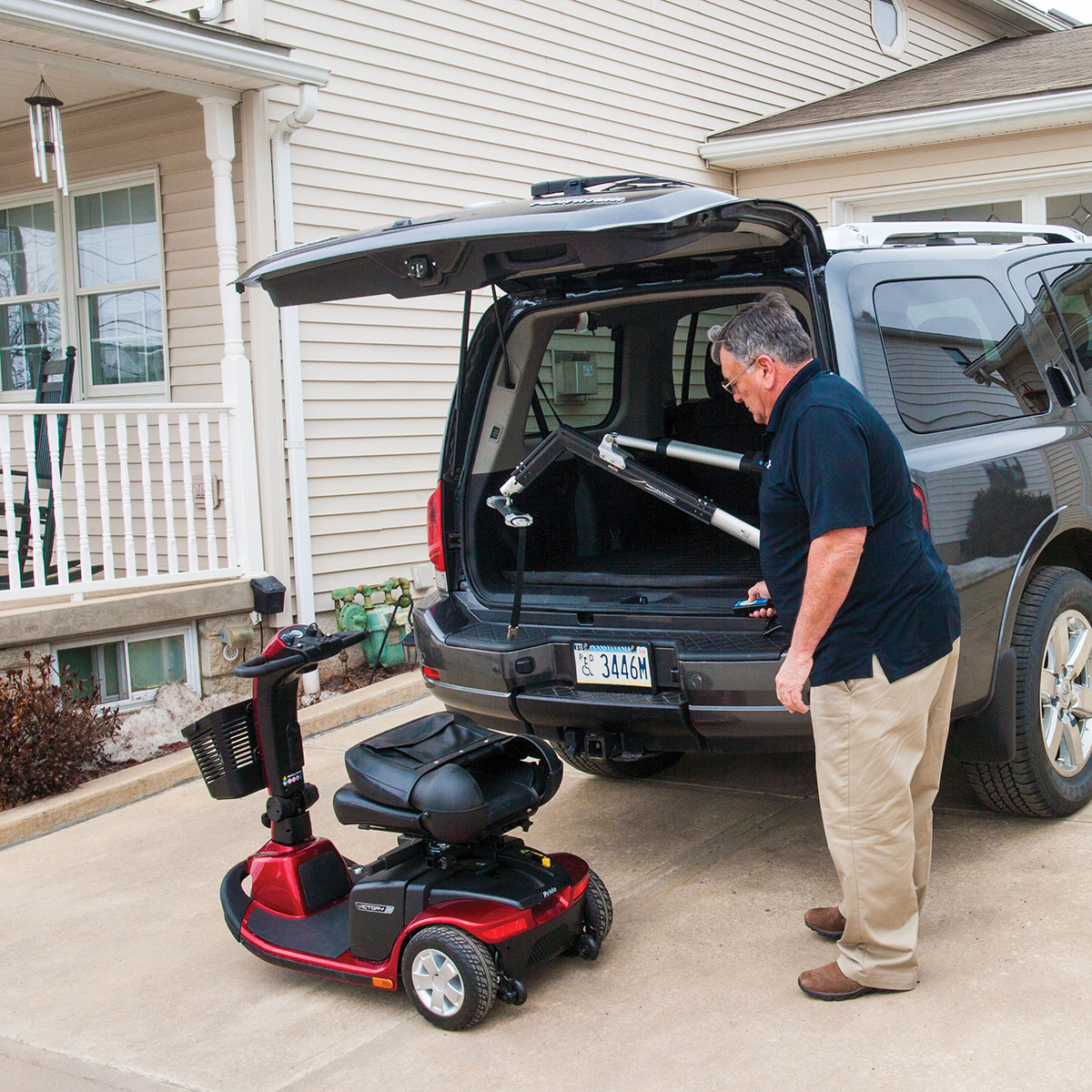 vehicle lifts for power wheelchairs quality folding chairs zeus 260 mobility scooter and electric wheelchair lift