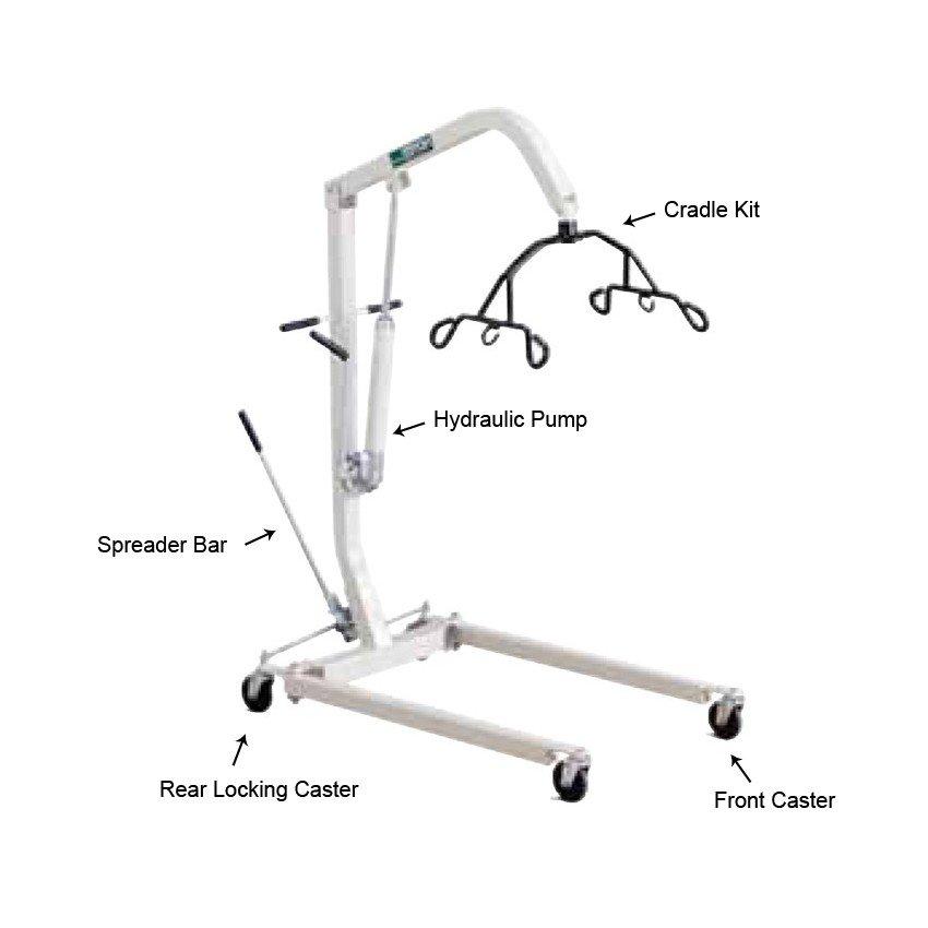 Hydraulic / Manual Patient Lift Rental LA County Area