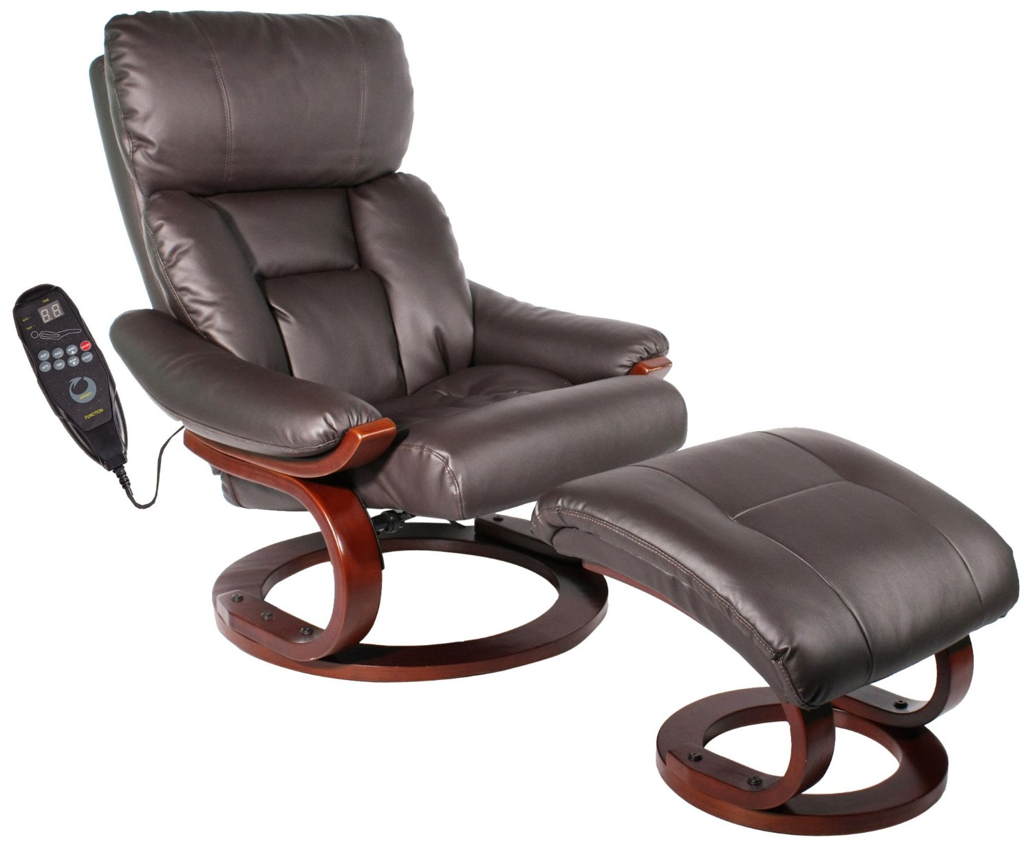 Message Chairs Comfort Vantin Deluxe Massaging Recliner And Ottoman