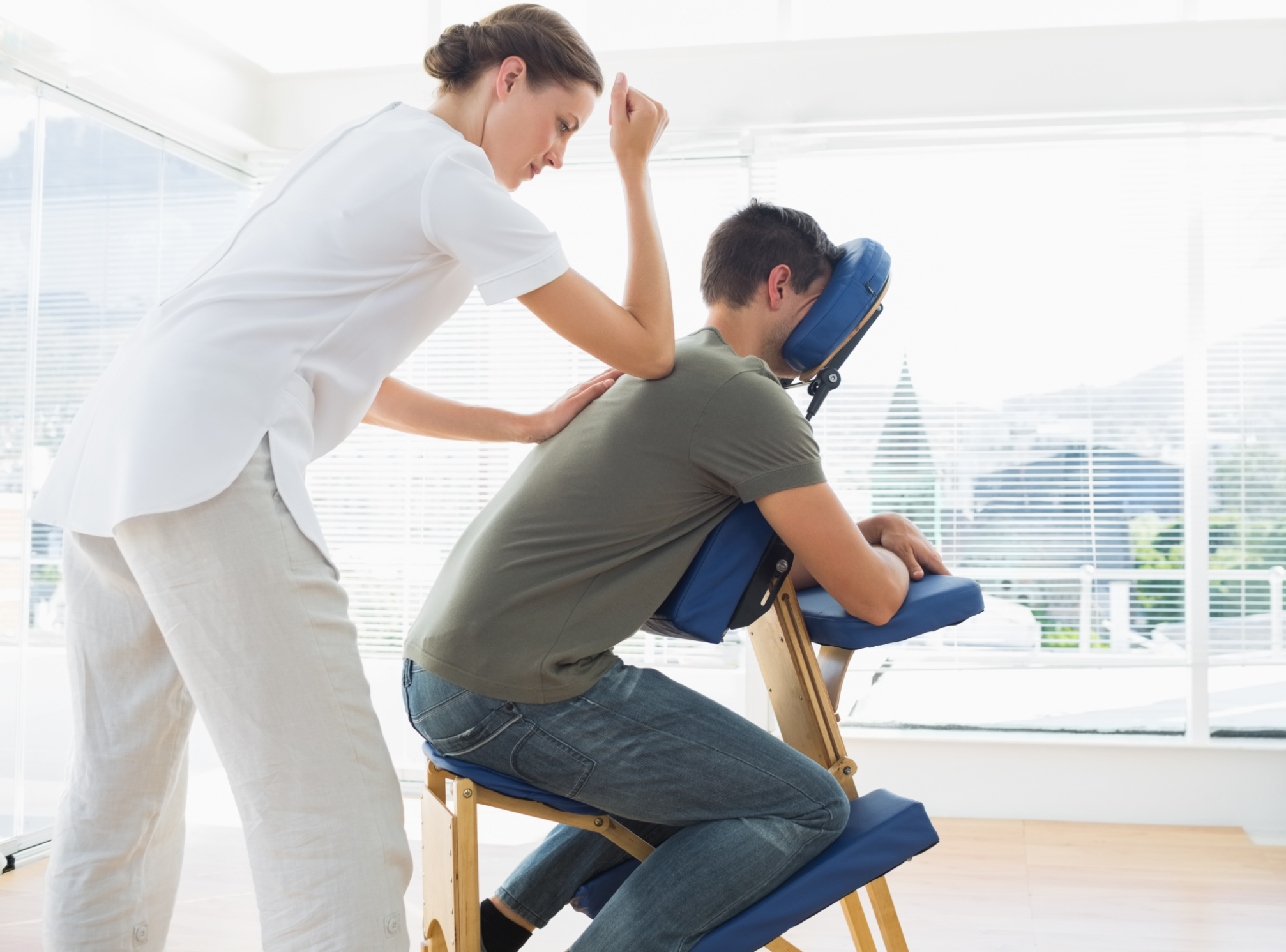 Massage Therapist Chair From Chair To Table Convert Your Chair Massage Clients