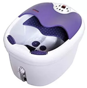 All in one foot spa bath massager w/ motorized rolling massage