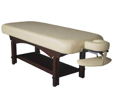chair arm table attachment desk cover wood spa bed, wooden massage table, singapore