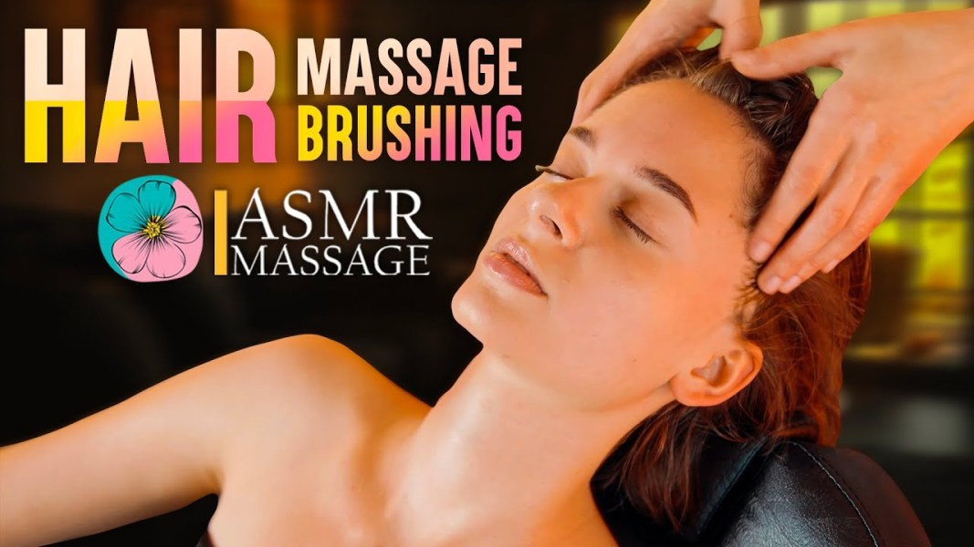 ASMR Pleasant Hair brushing sounds with Head Massage by Anna