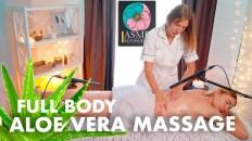 ASMR full body massage with aloe vera by Olga ||| Back, neck, foot, feet massage no talking