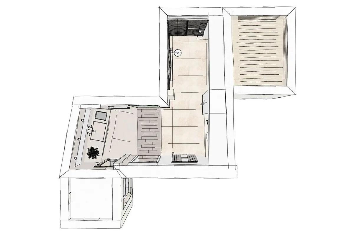 Grundriss Badezimmer 20qm 20 Qm Küche Mit Kochinsel