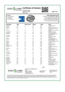 Isolate CBD Capsules 30 count 50mg COA pg2 | Proleve CBD