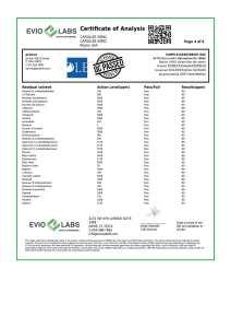 Isolate CBD Capsules 30 count 50mg COA pg4 | Proleve CBD