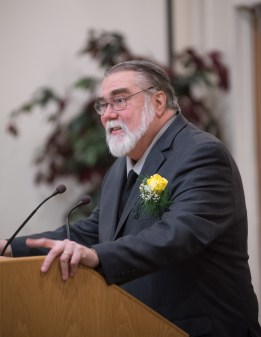 Honoree and past PTK advisor Professor Charles Mastrangelo
