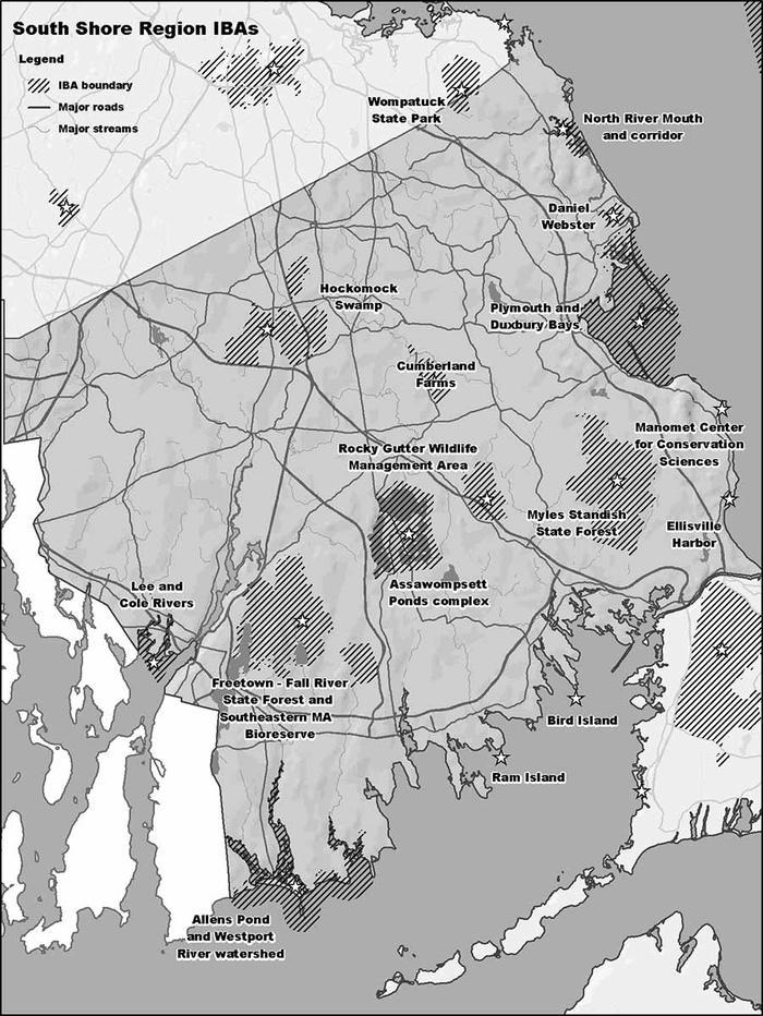 Map Of South Shore Ma : south, shore, South, Shore, Region