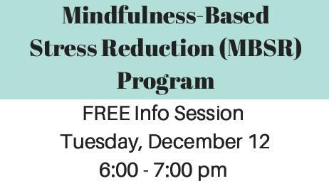 mindfulness based stress reduction program pdf
