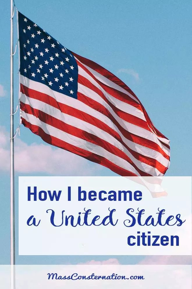 Last year I came an American. It took seven years and I got it easy.