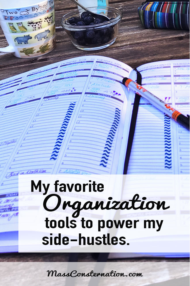 I need organization tools to juggle so many things and keep me sane.