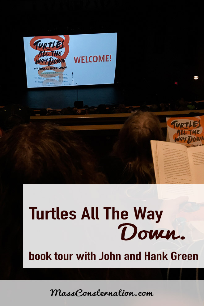 The Bellingham stop of John Green and Hank Green's Turtles All The Way Down book tour.