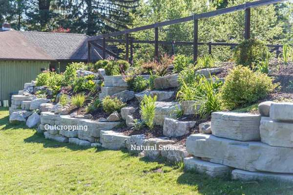 rosetta outcropping wall stone