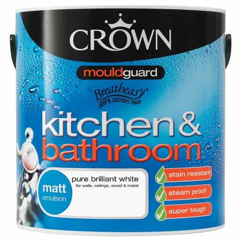 Crown Kitchen Amp Bathroom Matt Emulsion 25L Masseys