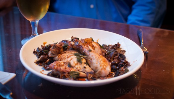 Roasted Chicken with Mushrooms from Lock 50 on Water Street in Worcester, MA