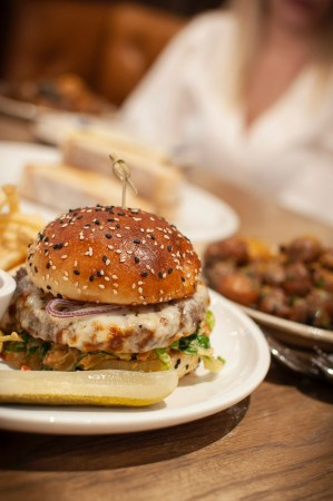 Italian Cheeseburger—a great brunch option from Cal Mare Springfield, MA.
