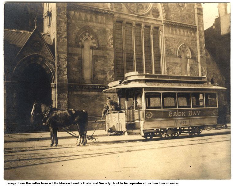 Object of the Month The Last Horse Drawn Streetcar in Boston
