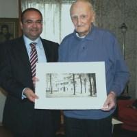 Adriano Grinnover festeggia i suoi 101 anni con il Sindaco Massimiliano Barison