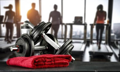 Gym interior and free space for your decoration