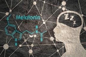 Melatonin hormone molecule.