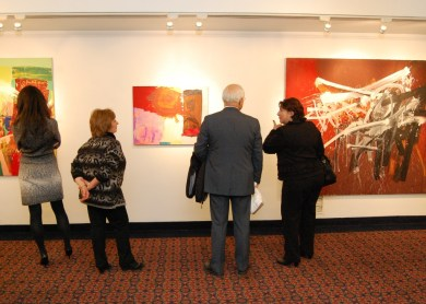 "A special art exhibit, ""Armenian Christmas and the Legacy of Ten Armenian Artists,"" curated by Vicki Shoghag Hovanessian, was on display in the cathedral complex."
