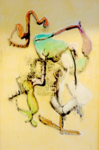 John Altoon, Seaview Series, 1964, pastel on paper, courtesy of the collection of Joan and Jack Quinn, Beverly Hills, CA.