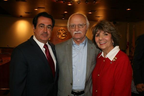 ACA Board Member Peter Darakjian with Councilmembers Devine and Gharpetian