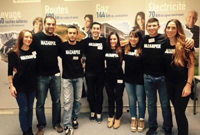 Paris: SDHP Nazarpek Youth organization members volunteering at Pan-European Phoneathon