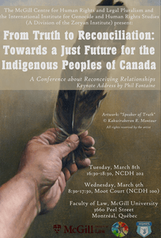 Truth & Reconciliation Conference Poster