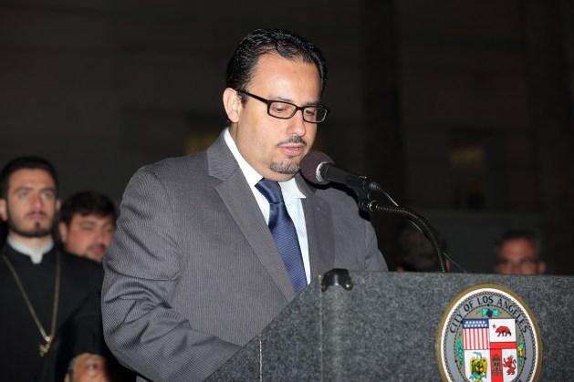Mehran Toumajan from the Armenian Assembly of America - Courtesy ARKA Photo