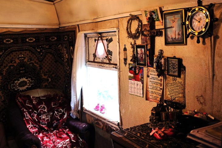 Inside the domik of a Gyumri resident
