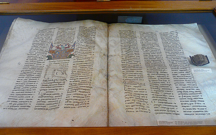 Unique Centennial the Largest Armenian Manuscript the