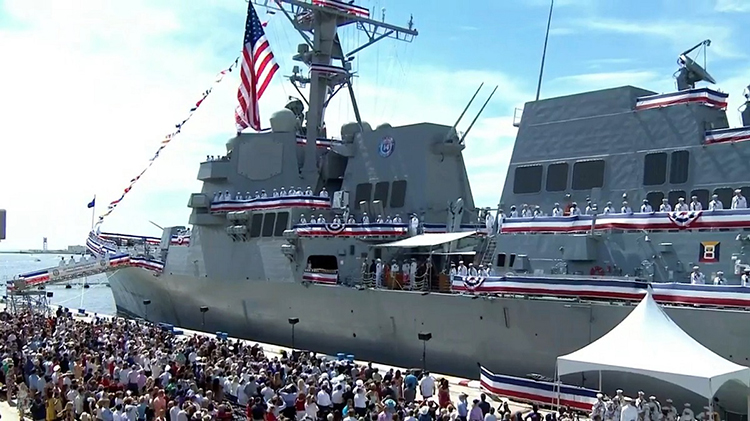 US Navy Commissions Guided Missile Destroyer in Honor of Armenian