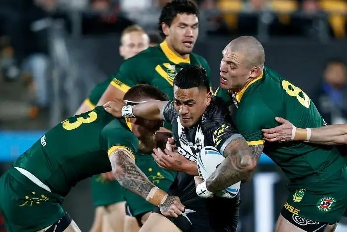 Ken Maumolo is tackled