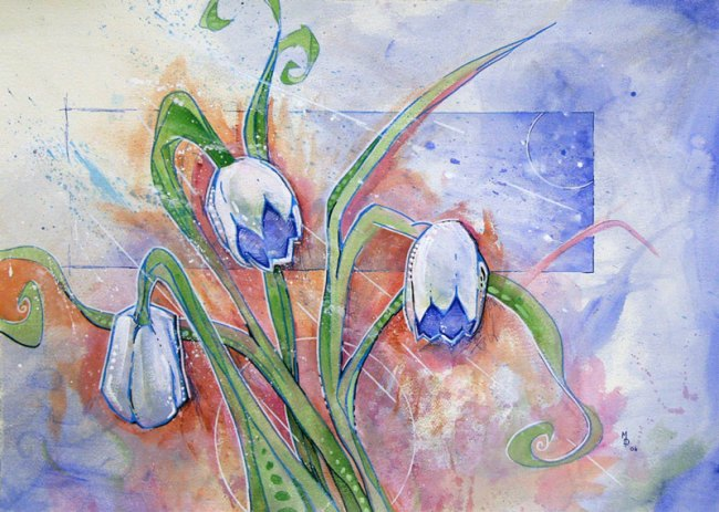 Sometimes Even the Flowers are Sad   Original Art by Miles Davis   Massive Burn Studios