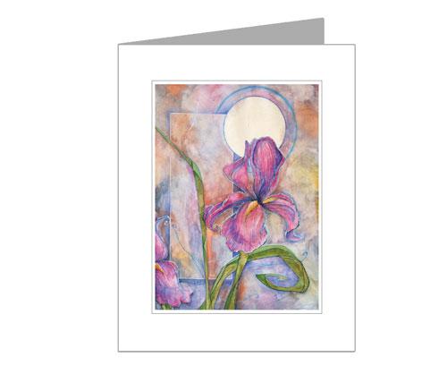 Iris in Twilight | Greeting Card by Miles Davis | Massive Burn Studios