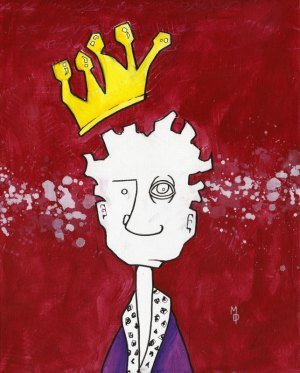 King in His Own Mind | Original Art by Miles Davis | Massive Burn Studios