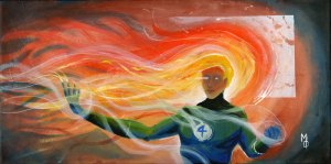 The Human Torch | Original Art by Miles Davis | Massive Burn Studios