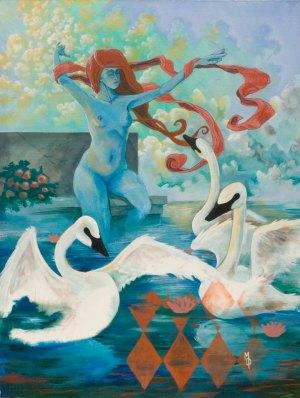 Swan Siren | Original Art by Miles Davis | Massive Burn Studios
