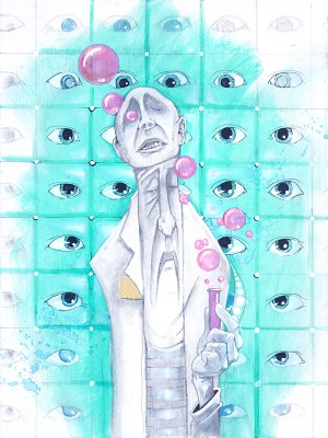 Mad Science | Original Art by Miles Davis | Massive Burn Studios
