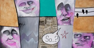 Street Gossip | Original Art by Miles Davis | Massive Burn Studios