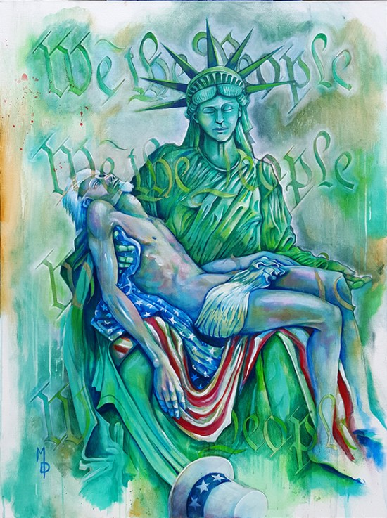 Loss of Liberty | Original Art by Miles Davis | Massive Burn Studios