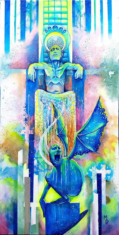 The Beast Beneath | Original Art by Miles Davis | Massive Burn Studios