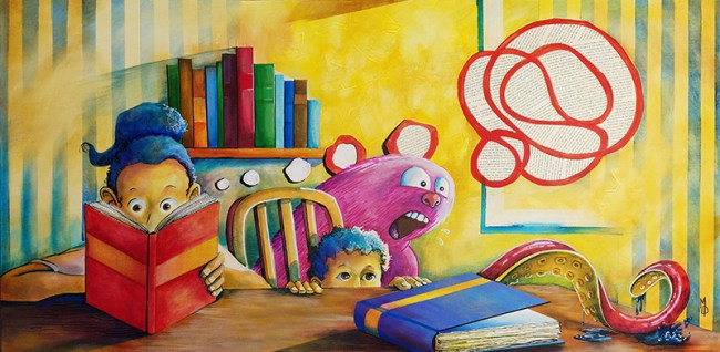 Living Stories   Original Art by Miles Davis   Massive Burn Studios
