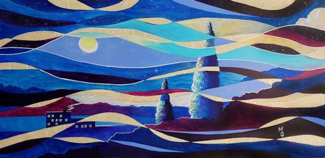Whispers on the Wind   Original Art by Miles Davis   Massive Burn Studios
