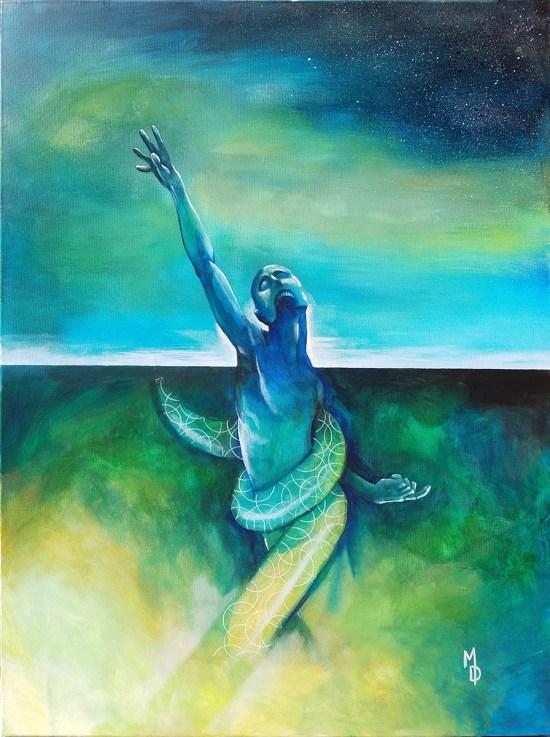 Tug of Tides   Original Painting by Miles Davis   Massive Burn Studios Art