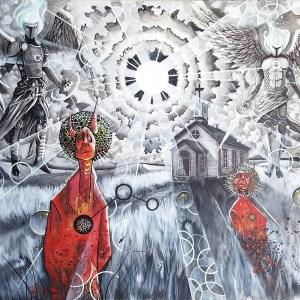 Gravitas at the Gates | Original Painting by Miles Davis | Massive Burn Studios Art