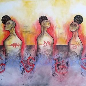 Bloodlines | Original Painting by Miles Davis | Massive Burn Studios Art